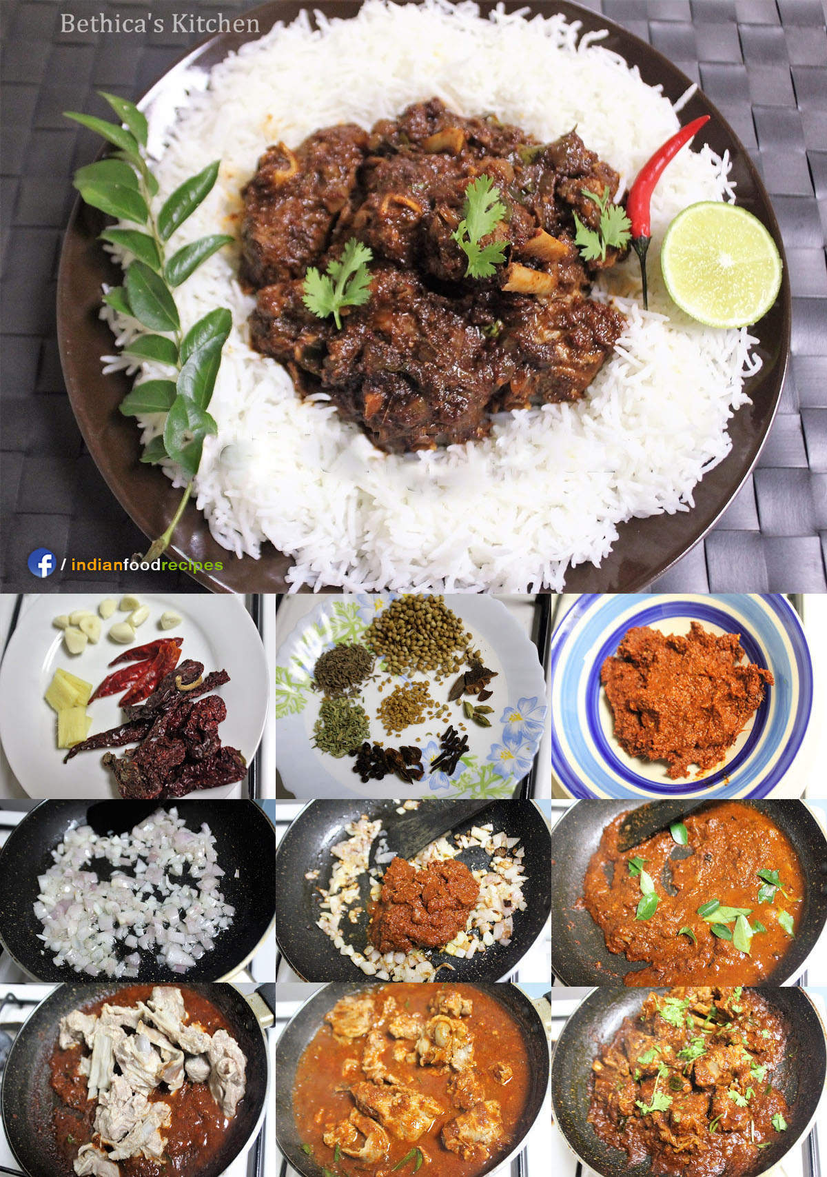 Mutton Ghee Roast - Mangalorean Style recipe step by step pictures