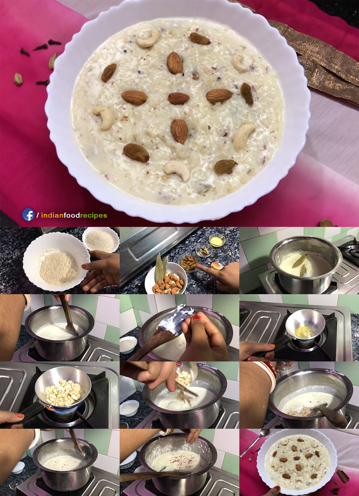 Rice Kheer | Rice Payasam | Bengali Payesh recipe step by step