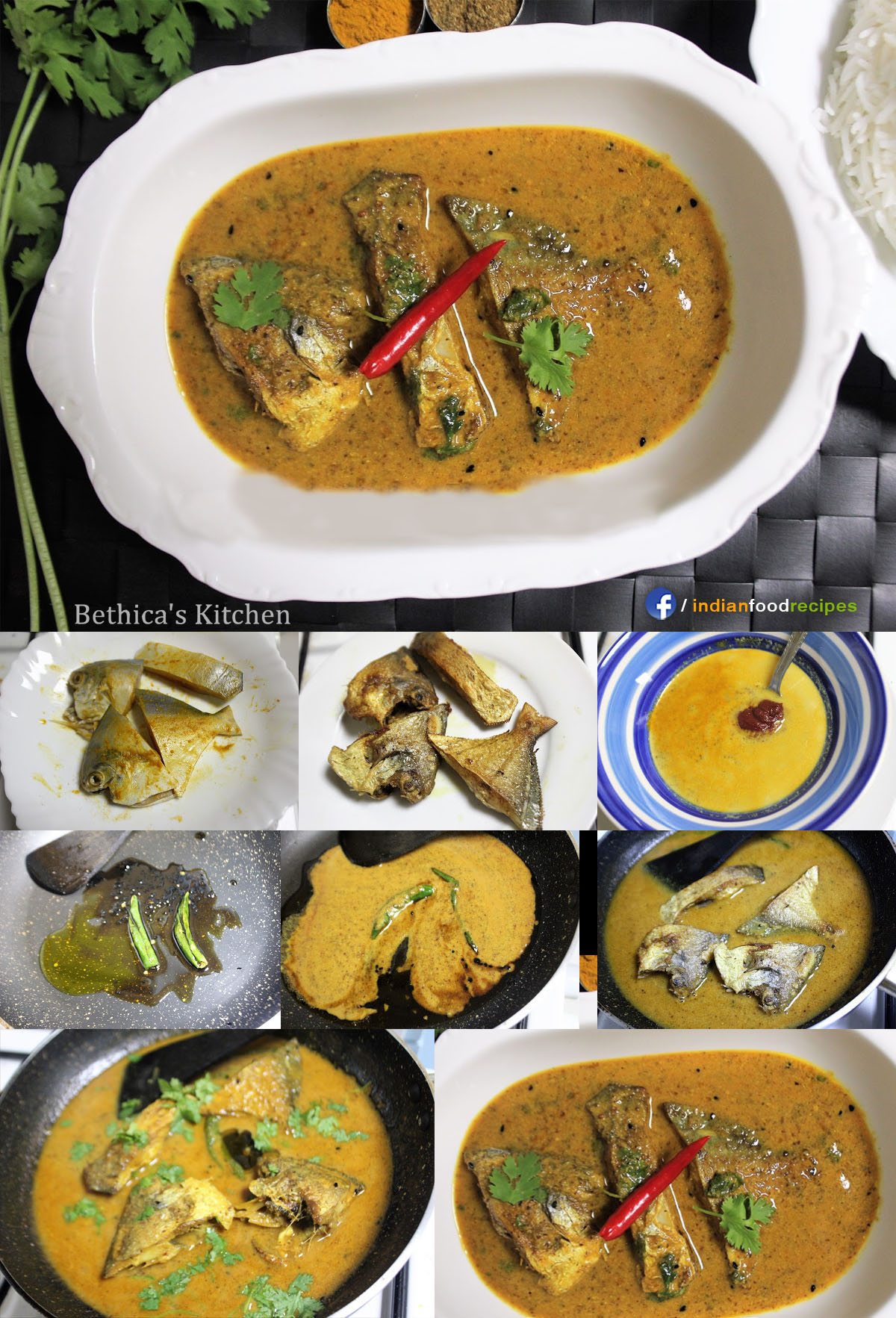 Shorshe Pomfret (Pomfret in Mustard Gravy – Bengali Style) recipe step by step pictures
