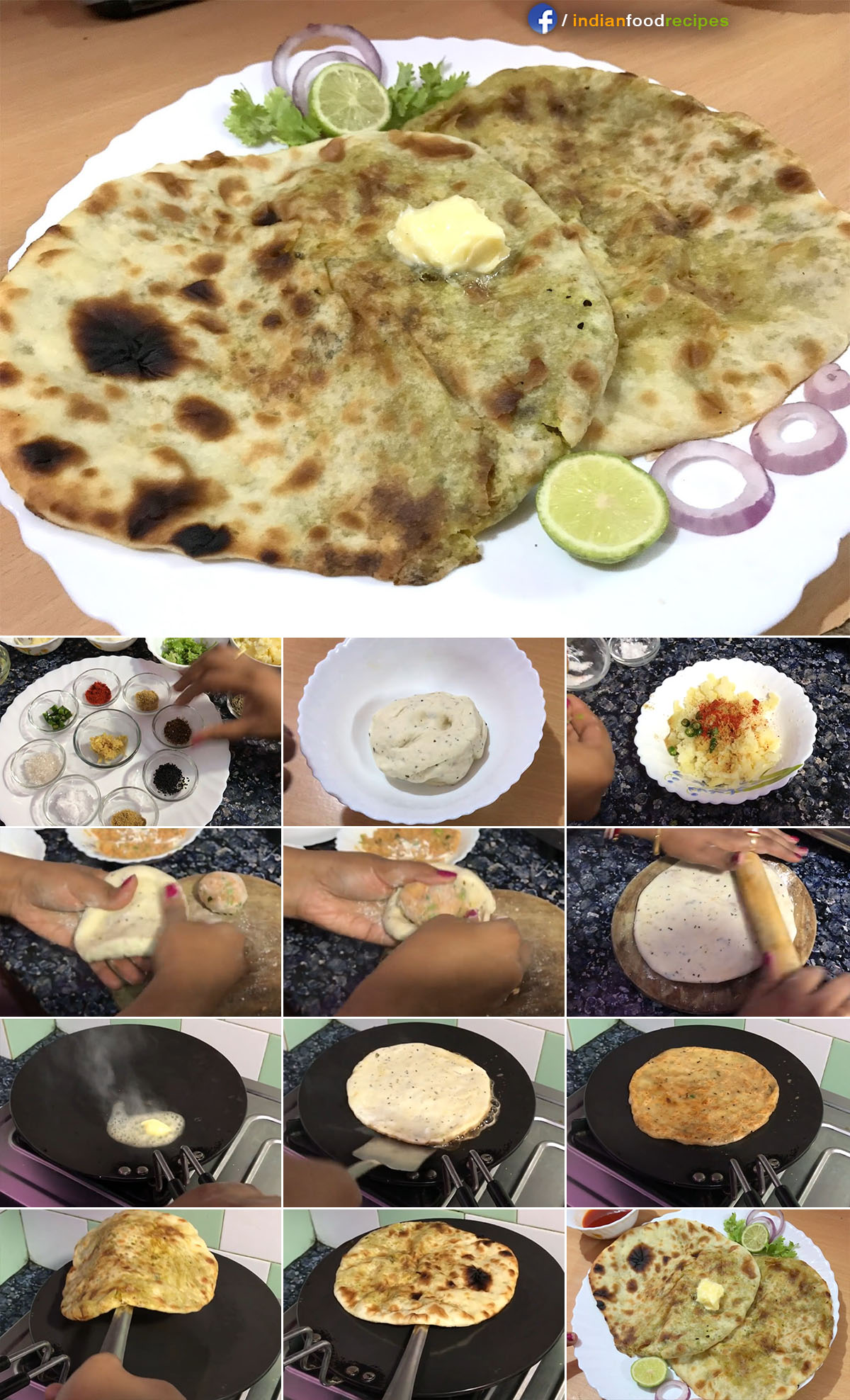 Amritsari Aloo Masala Kulcha recipe step by step pictures