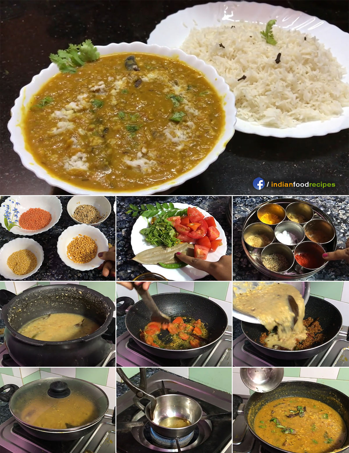 Authentic Rajasthani Panchmel Dal Fry Tadka recipe step by step pictures