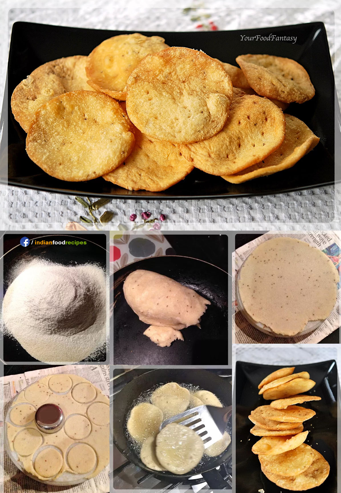 Papdi for Chaat recipe step by step pictures