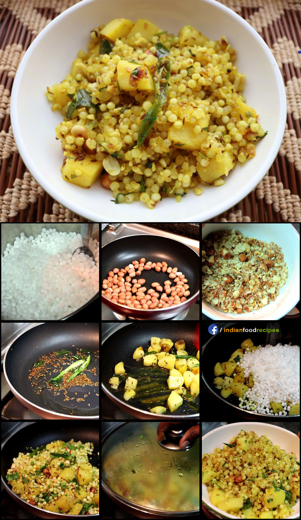 Sabudana Khichdi recipe step by step pictures
