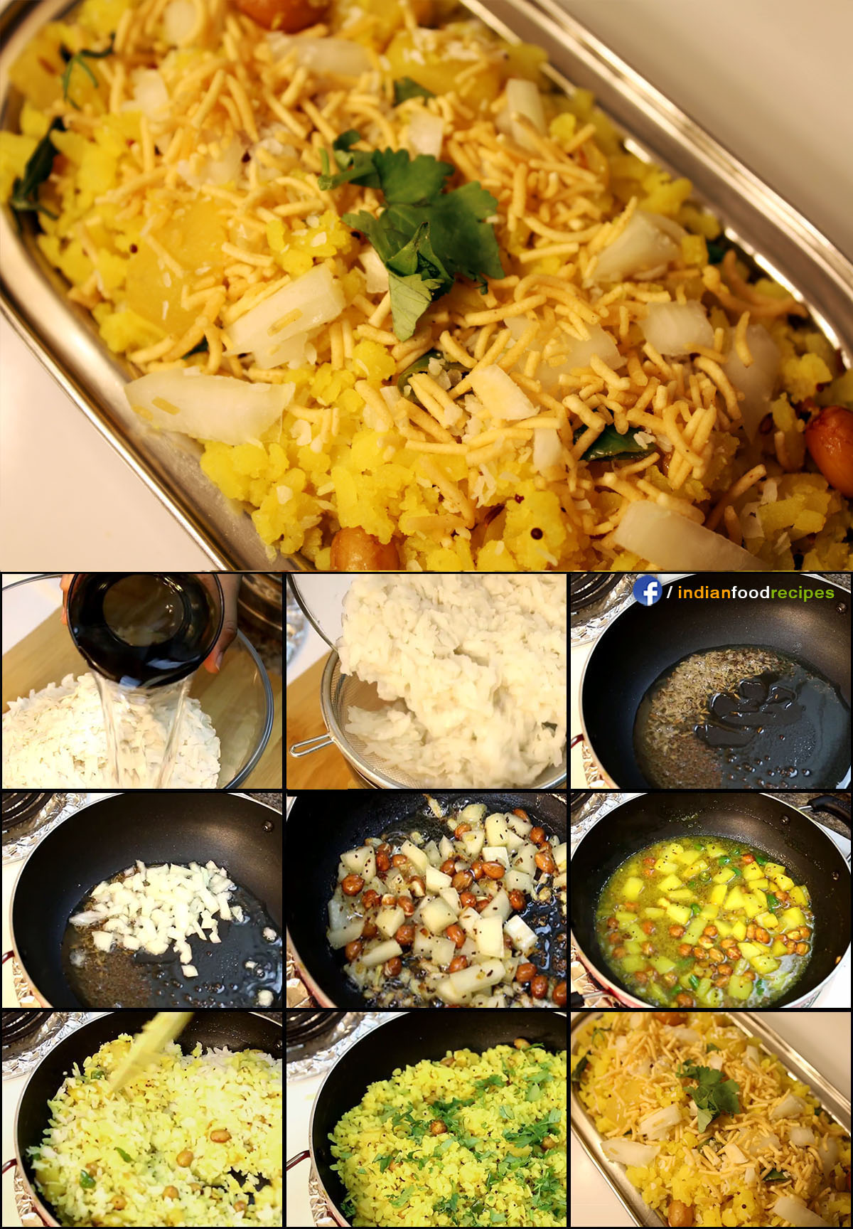 Aloo Poha / Batata Poha recipe (step by step) pictures