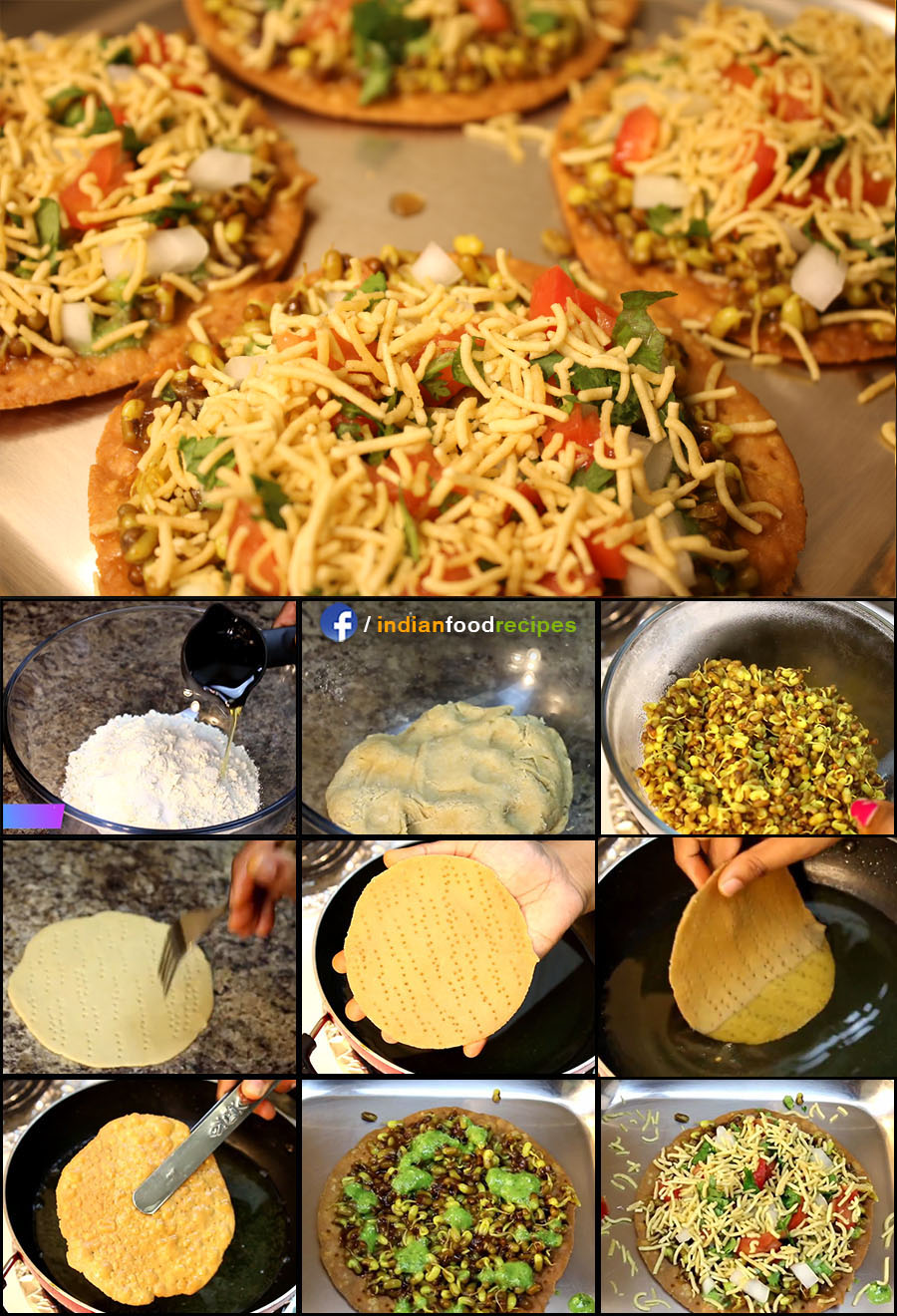 Sev Puri Street Food recipe (step by step) pictures