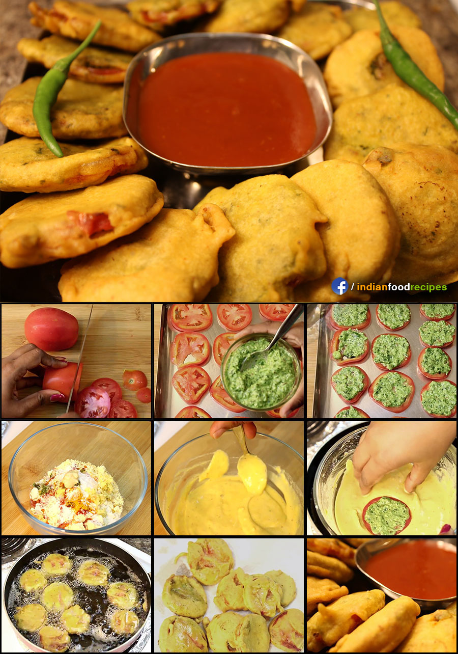 Tomato Bhajiya (Pakoda) recipe (step by step) pictures
