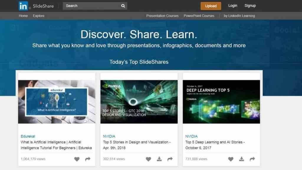 Slideshare Screenshot