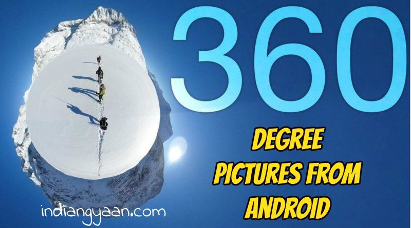 click 360 degree photo