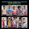 Indian Artistic Gymnastics Team for Jakarta Asian Games 2018
