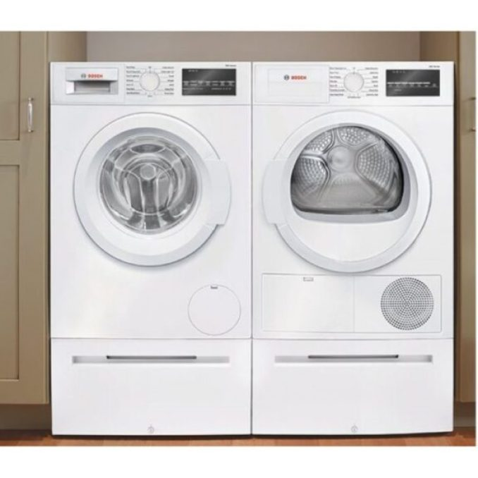 Bosch WAT28400UC Front Load Washer & WTG86400UC Electric Dryer