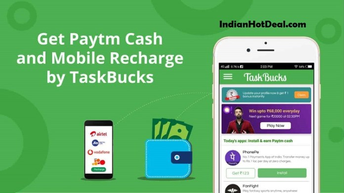 TaskBuck Promo Code 2019, Download App & Earn Free Rs.100 Paytm