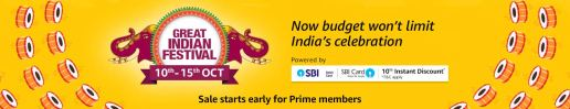 Amazon Great Indian Sale 2018: List Of Top Offers & Deals [ 10th - 15th Oct ]