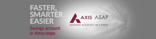 Open Axis ASAP Saving Account Online