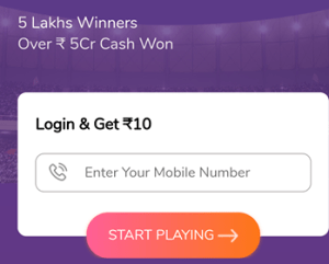 Fanmojo Fantasy Cricket New User Register