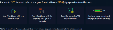 LeagueX Referral Amount Distribution
