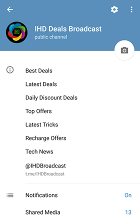 Telegram Deals Channel