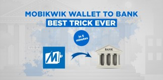 Trick To Transfer Mobikwik Balance Into Bank Account