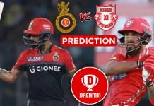 IPL 2019. Match 28 - KXIP VS RCB Best Dream11 team Today Prediction