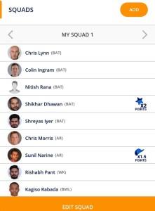 Kolkata vs Delhi Plzyerzot Team