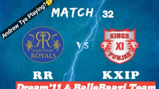 IPL 2019, 32nd Match: KXIP vs RR Best Dream11 Team Today, Prediction
