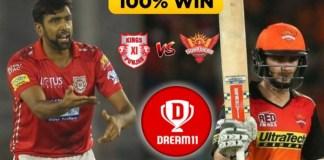 SRH vs KXIP Dream11 Team Predictions Today