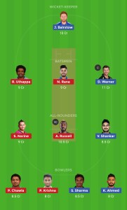 KKR vs SRH Best Dream11 Team Today 1