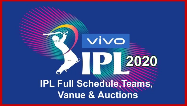 Vivo ipl 2020 team, match details
