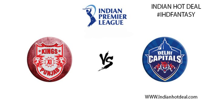 IPL 2019, 37th Match: KXIP vs DC Best Dream11 Team Today Prediction