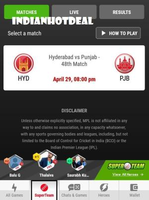 mpl superteam match selection