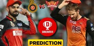 IPL 2019 - 54th Match, RCB vs SRH Dream11 Team Prediction Today Match