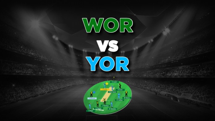 English One Day Cup, YOR vs WOR Dream11 Team, Prediction For Today