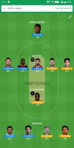 IPL 2019 - 52nd Match, KXIP vs KKR Dream11 Team Prediction Today Match
