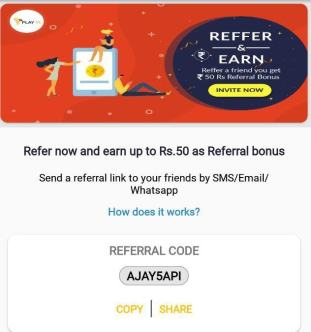 play11 refer and earn