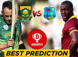 SA vs WI 5th Warm-up game - ICC Cricket World Cup 2019 Dream11 Team