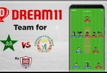 PAK vs AFG 1st Warm-up game - ICC Cricket World Cup 2019 Dream11 Team