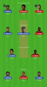SL VS WI Dream11 Team Prediction For Today's Match  - Small League