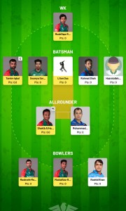 Fanfight Team For Today BAN vs AFG Match