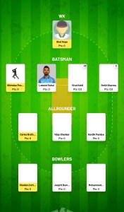 WI vs IND Fanfight Fantasy Team For Todya's Match