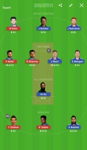 ENG Vs SL  Dream11 Team Prediction For Today's  Match  Small League