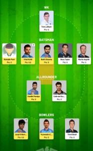 IND VS NZ Fanfight Fantasy Team For Todya's Match