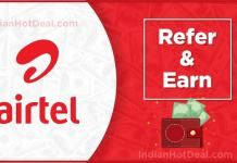 airtel UPI refer and earn