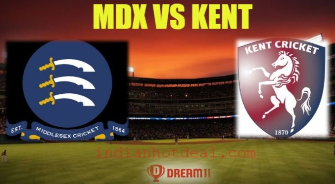 MDX VS KENT Best Dream11 Team And Team News, Playing XI