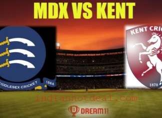 MDX vs KENT Dream11 Team Prediction, English T20 Blast 2019