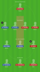 IRE vs NEP Dream11 Team for small league