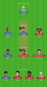 PUN vs DEL DREAM11 TEAM FOR HEAD TO HEAD