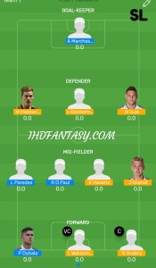 FINAL: ARG vs GER Myteam11 Fantasy Football Team (H2H)