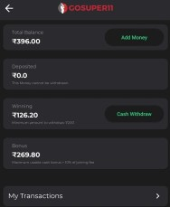 gosuper11 withdraw cash
