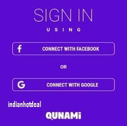 Qunami pro signup