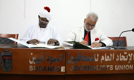 Meeting with Sudanese Journalists Union President