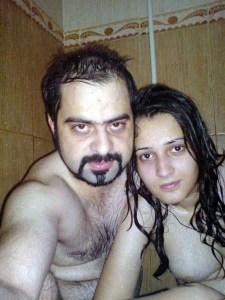 Indian Couple Nude Bathing